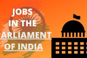 How to get a job in the parliament of India?