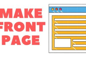Make Awesome Front Page For Projects Online.